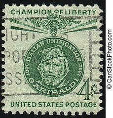 postmark - UNITED STATES - CIRCA 1960: stamp printed by...