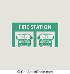 posto de bombeiros, ícone
