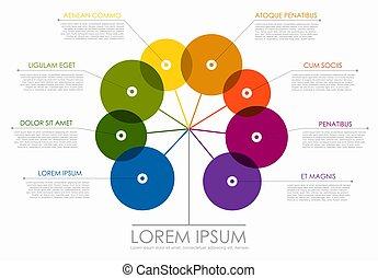 posto, sagoma, illustration., tuo, disegno, vettore, infographic, data.