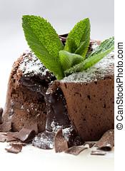 postre, chocolate