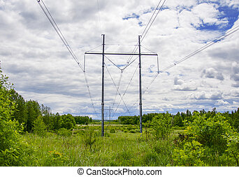 posts with electric wires