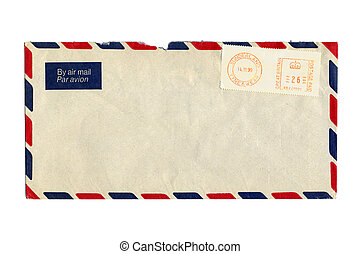 poststempel, luftpost, brev, uk.
