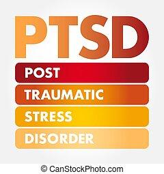 posttraumatic, -, désordre, tension, acronyme, ptsd