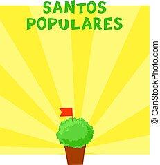 postuguese, bandeira, populares, santos