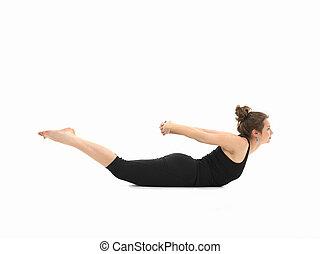 postura, difícil, yoga