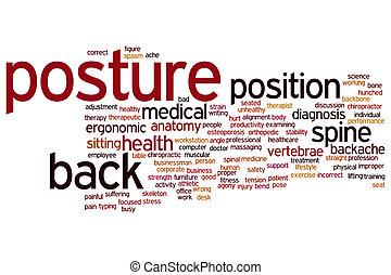 Posture word cloud - Posture concept word cloud background