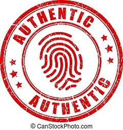 postzegel, authentiek, product, vector, uniek