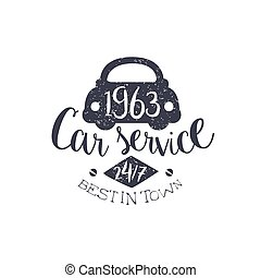 postzegel, auto, best, dienst, ouderwetse