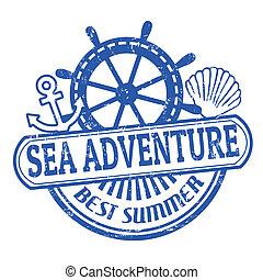 postzegel, avontuur, zee