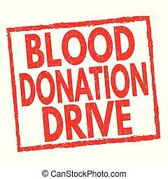 postzegel, besturen, meldingsbord, schenking, bloed, of