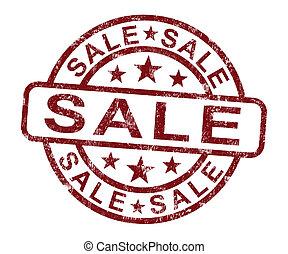 postzegel, bevordering, het tonen, reductie, verkoop