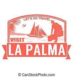 postzegel, bezoek, palma, la
