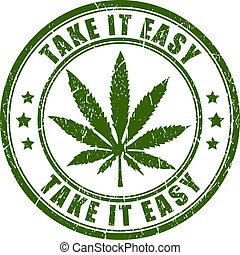 postzegel, cannabis, vector, rastaman