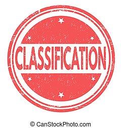postzegel, classificatie