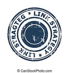 postzegel, concept, schakel, strategie