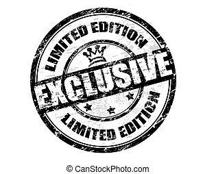 postzegel, editie, -, begrensd, exclusief