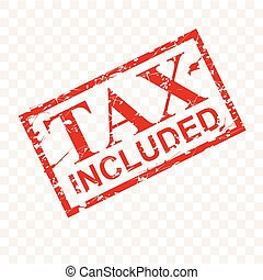postzegel, effect, belasting, effect, rubber, vector, included, achtergrond, transparant