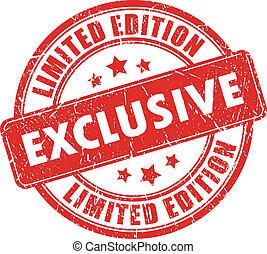postzegel, exclusief