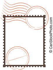 postzegel, frame