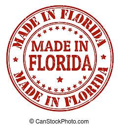 postzegel, gemaakt, florida