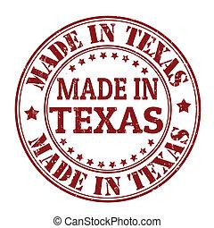 postzegel, gemaakt, texas