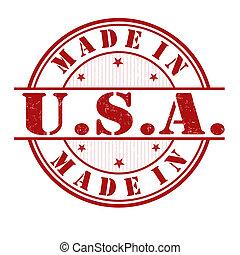 postzegel, gemaakt, usa