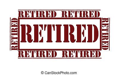 postzegel, gepensioneerd