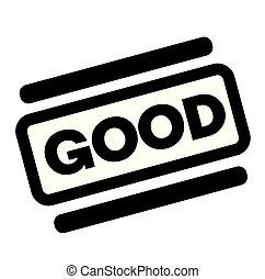 postzegel, goed, black