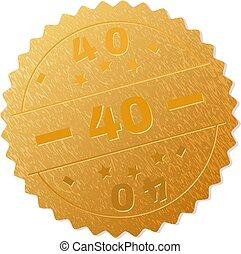 postzegel, gouden, medaille, 40