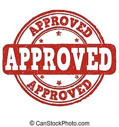 postzegel, grunge, goedgekeurd