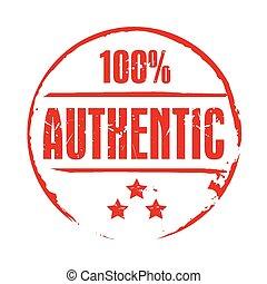 postzegel, grunge, vector, authentiek, rood