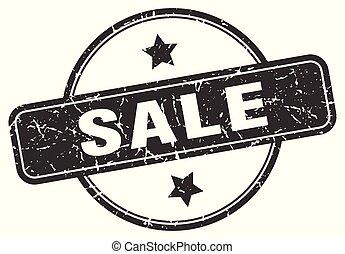 postzegel, grunge, verkoop