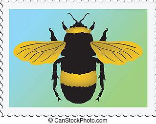 postzegel, hommel