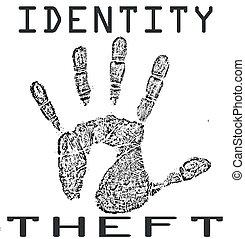 postzegel, identiteit diefstal