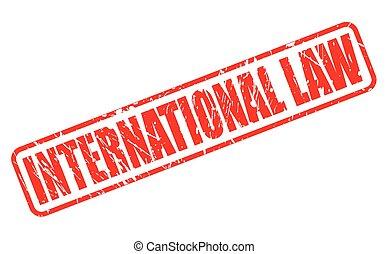postzegel, internationale wet, rood, tekst
