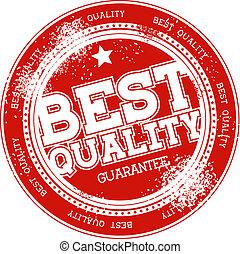 postzegel, kwaliteit, vector, grunge, best
