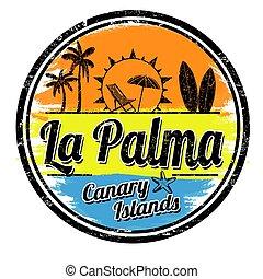 postzegel, la, palma, of, meldingsbord