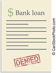 postzegel, lening, document, bank, ontkennen