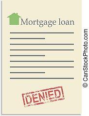 postzegel, lening, document, hypotheek, ontkennen