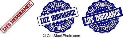 postzegel, leven, grunge, verzekering, zegels