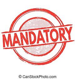 postzegel, mandatory, of, meldingsbord