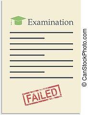 postzegel, mislukt, papier, examen