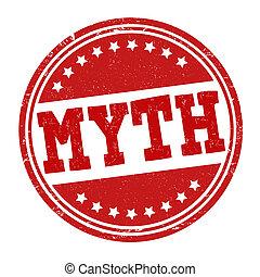 postzegel, mythe