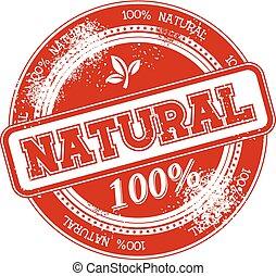 postzegel, natuurlijke , vector, grunge