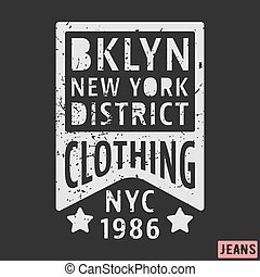 postzegel, nieuw, brooklyn, york, ouderwetse