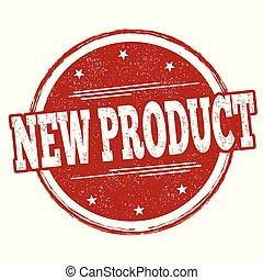 postzegel, nieuw product, of, meldingsbord