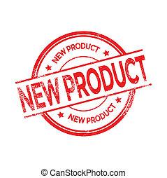 postzegel, nieuw product, vector