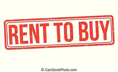 postzegel, of, kopen, verhuren voorteken