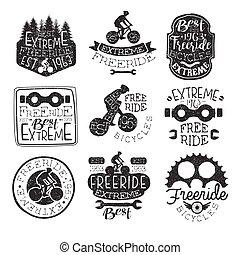 postzegel, ouderwetse , fietsen, freeride, verzameling