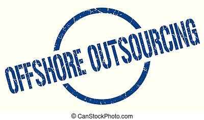 postzegel, outsourcing, voor de kust